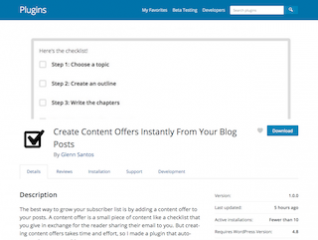 Create Content Offers Instantly From Your Blog Posts