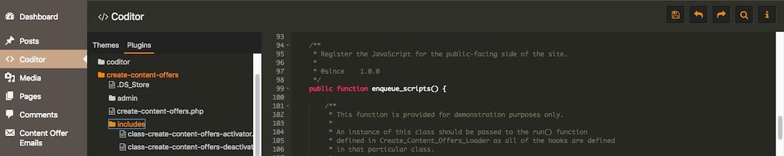 edit code using Coditor